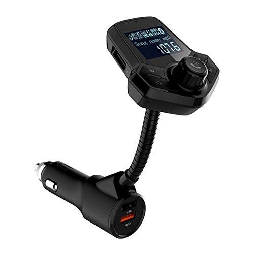 Lecteur MP3 /à Carte TF Sortie AUX Adaptateur Radio sans Fil QC3.0 et Deux Ports USB 2.4A intelligents Transmetteur FM Bluetooth pour Voiture avec Ainope V4.2