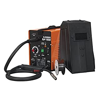 DJM Professional No Gas Mig Welder 100 amp 230v Gas-less Includes Wire Tip Mask