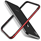 RANVOO Kompatibel mit iPhone 8 Hülle, iPhone 7 Hülle, Bumper Case Aluminium Rahmen + Innen Gepostert TPU Metall Bumper Handyhülle ScHhutzhülle, [Wärmeableitung] [für Handyspieler], Rot