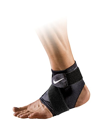 Nike Erwachsene Pro Ankle Wrap 2.0 Knöchelstulpe, Black/White, XL (Erwachsene Pro Gewicht Mesh)