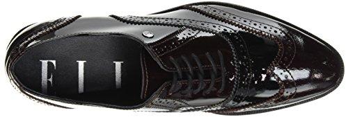 Elle Wilson, Chaussures Lacées Femme Noir (Noir/Bordeaux)