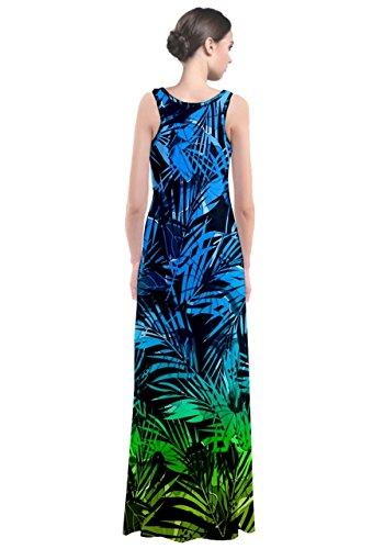 CowCow - Robe - Femme Green Hawaii Stripe bleu / vert