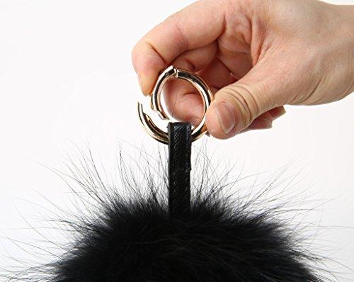 vogueearth Vero Large Pelliccia Palla pompon Mobile Cinghia Portachiavi  Borsa Fascino ab415a3bb8e8