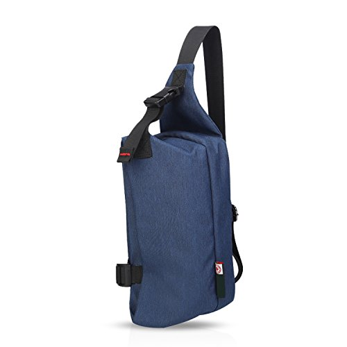 FANDARE Mode Outdoor Sports Rucksack Sling Bag Umhängetasche Messenger Schultertasche Reisen Wandern Daypack Crossbag Crossbody Bag Chest Pack Wasserdicht Polyester Grau Blau