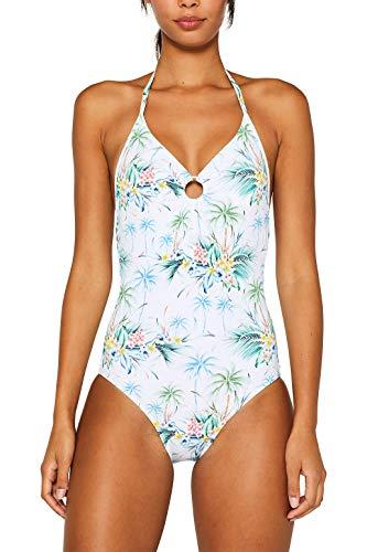 ESPRIT Wattierter Badeanzug mit Blumen-Print - Blumen-print-badeanzug