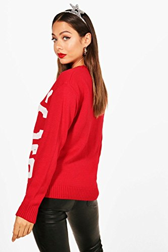 rouge Femmes Bethany Merry Chic-Mas Christmas Jumper Rouge