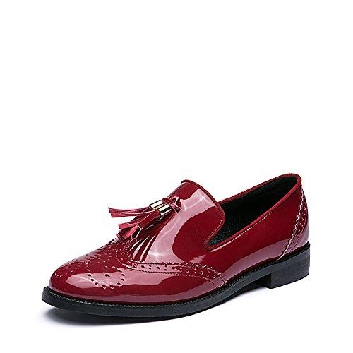 Bas fond plat en cuir chaussures de Dame/ chaussures avec des glands dans B