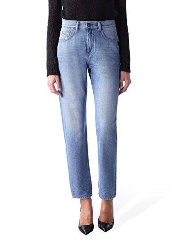 Diesel camicia kameron 0847r fidanzato pantaloni jeans donna (w27/l32, blu)