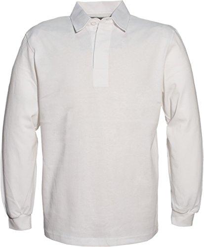 Herren-Rugby-Polohemd Mit Uni Weißem Kragen - 280 g/m² - Herren White