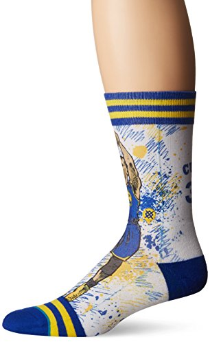 Stance Heren Socken TF Curry Blue Large 43-46 (Basketball Pack Sock 2 Crew)