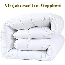 DUCK & GOOSE Hochwertige 4-Jahreszeiten Kombidecke Bettdecke Steppdecke Steppbett Microfaser 200x220