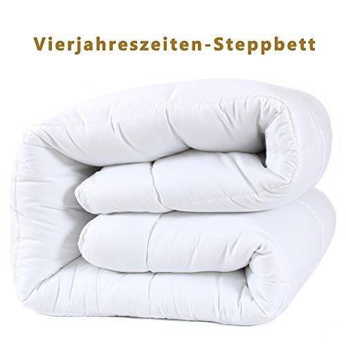 DUCK & GOOSE Hochwertige 4-Jahreszeiten Kombidecke Bettdecke Steppdecke Steppbett Microfaser 135x200
