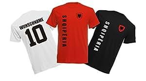 11 x Kinder T-Shirt Trikot Look – MINI EM 2016 – Albanien
