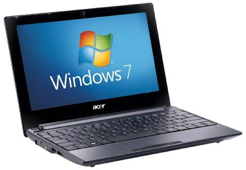 Acer Aspire One D255E 10.1 inch Netbook (Intel Atom N455 Processor, 1 GB RAM , 250 GB HDD, BT 3.0,  Windows 7 Starter 32-bit, 8 hours battery life) - Black