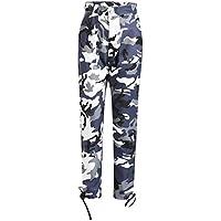 Pantalones de harén Pantalones de Camo Cargo para Mujer Pantalones Casuales Pantalones de Camuflaje para ejército Militar Combat Gusspower