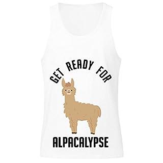 idcommerce Get Ready for Alpacalypse Herren Tank Top Large