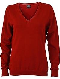 JN658 Damenpullover V-Neck Damen Pullover Baumwolle