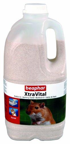 beaphar XtraVital Rennmaus Badesand | Badesand für Rennmäuse | Absorbiert Feuchtigkeit & überschüssiges Fett | Für eine optimale Fellpflege | 1,3 kg Badesand