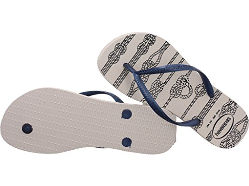 Havaianas Slim Nautical, Protezioni Toe Donna Bianco (White 0001)