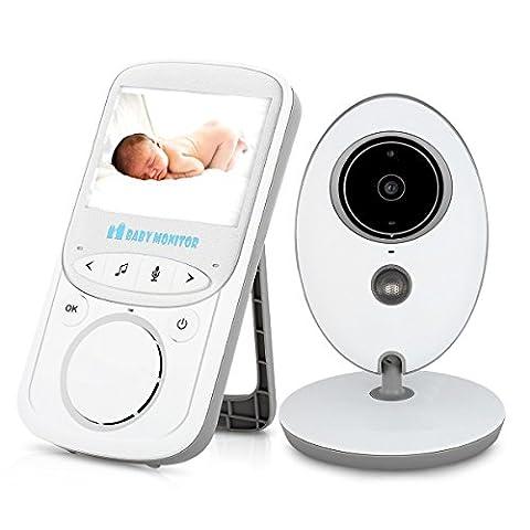 Baby-Monitor, PYRUS Wireless Video Babyphones und Überwachung mit Nachtsicht / Zwei-Wege-Audio-Kommunikation / VOX