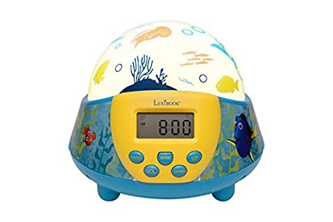 Lexibook NLJ140DO Finding Dory Projector Nightlight Radio Alarm Clock