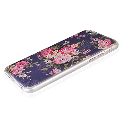 UKDANDANWEI Apple iPhone 5S Hülle Case - Bling Strass Ultra Dünn Hart PC Hülle Glitzer Rückseite Slim Etui Schale für Apple iPhone 5S -27 Bling-16