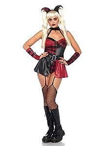 Leg Avenue- Mujer, Color negro, rojo, Medium (EUR 38-40) (85548)