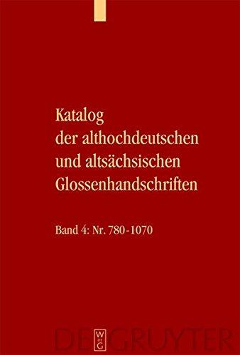 Glossenhandschrift. 5 Textbände und 1 Tafelband: 6 Bde.