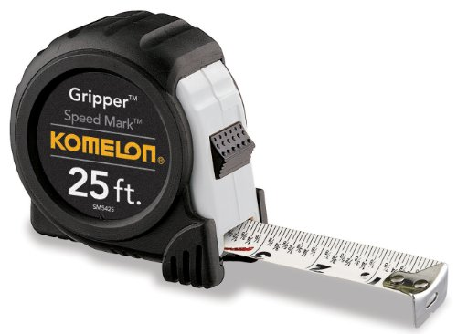 KOMELON SM5425 25 X 1 GRIPPER SPEED MARK FRACTIONAL GRADUATION TAPE MEASURE BY KOMELON