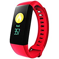 FUBORONG Keptfit Smart Bracelet Fitness Tracker with HR Blood Pressure Monitor Watch, IP67 Waterproof Bluetooth Remote Self-Timer Calorie Counter Colorful Touch Screen Smart WristBand Sleep Monitor