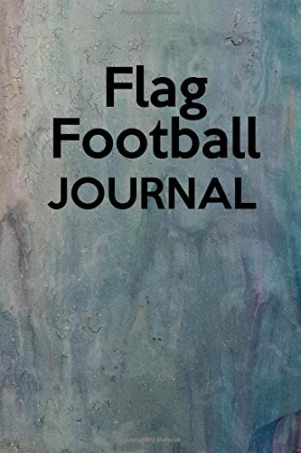 Flag Football Journal: Record your flag football practices and games (Red Football Flag)