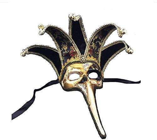 Party Maske für Erwachsene Venice Long Nose Masks Party Supplies Maskerade Maske Weihnachten Halloween Venezianische Kostüme Karneval Anonym Masken (Batman Maske-display)