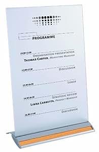 Alba SIGNA4T Chevalet de Table en Aluminium Format A4 Livré avec Gris + 6 Finitions Assortis