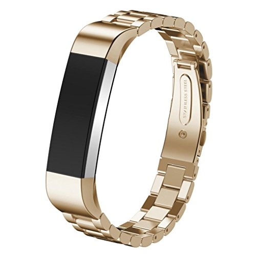 kingko® Fitness tracker 14mm Edelstahl Uhrenarmband Handgelenk Bügel für Fitbit Alta Smartwatch