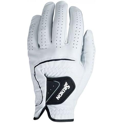 Srixon - Guanto da golf in pelle, per mano sinistra, da donna, Bianco (bianco), L