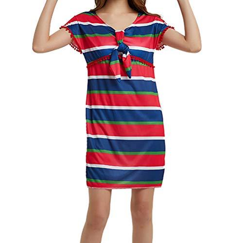 (Amosfun Womens mexikanische Fiesta Kleid mexikanischen Stil Kostüm Kleid Halloween Party Kleid (rot))