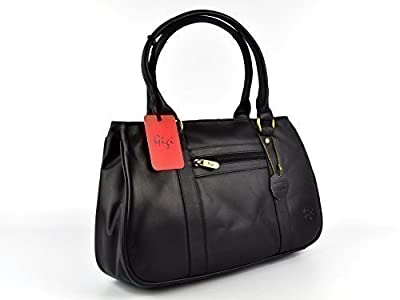 Gigi - Sac à Main Femme en Cuir Collection Gigi Othello Style Anglais - Noir, N/A
