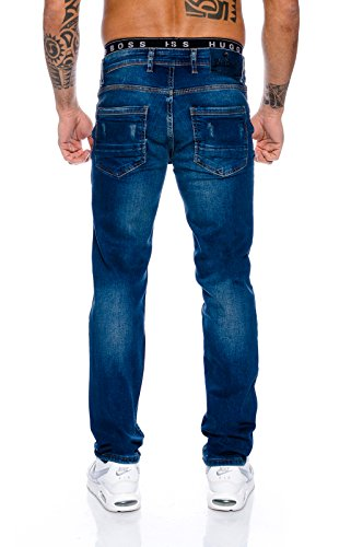 Rock Creek Herren Designer Jeans Denim Blau Hose Herrenjeans RC-2098 W29-W44 Blau