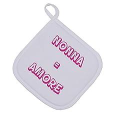 Idea Regalo - bubbleshirt Presina Festa dei nonni - nonna = amore - idea regalo - Dimensioni: 17cm x 17 cm
