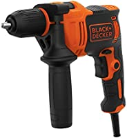 Black+Decker 550W 2,800 RPM Corded Hammer Drill with Forward/Reverse Function for Wood, Metal & Masonry Dr