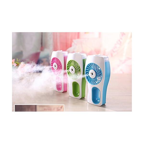 Mia-nbaoshu-Mini-ventilador-de-pie-con-refrigeracin-Verde-ventilador-USB-porttil-con-luftbefeuchte