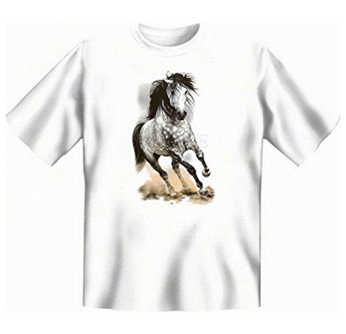 Andalusier Faszination Pferde Übergrössen Tshirt Glorious Gray Gr 5XL in weiss
