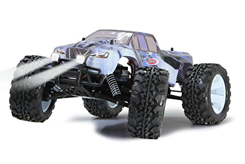 Tiger Ice Monstertruck 1:10 4WD NiMh 2,4G LED - Allrad, Elektroantrieb, Akku, 35Kmh, Aluchassis, spritzwasserfest, Öldruckstoßdämpfer, Kugellager, Fahrwerk einstellbar, fahrfertig - 4