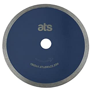 ATS 180mm x 25.4/22.23mm Continuous Rim Porcelain Tile Diamond Blade