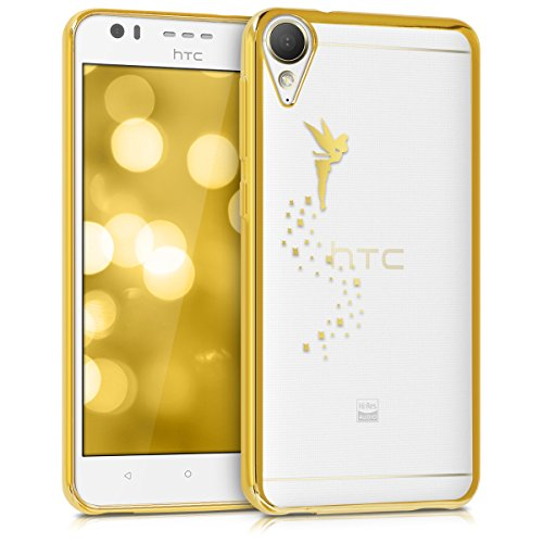 kwmobile HTC Desire 10 Lifestyle Hülle - Handyhülle für HTC Desire 10 Lifestyle - Handy Case in Gold Transparent