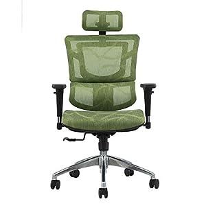 RUNXIAN Silla ergonómica Silla de oficina que compite con ordenador respaldo y el asiento ajustable Altura de la silla reclinable con la almohadilla mecedora reclinable Silla de oficina almuerzo Reces