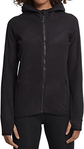 Urban Classics TB1728 Ladies Polar Fleece Zip Hoodie - Damen Outdoor Fleecejacke einfarbig mit...