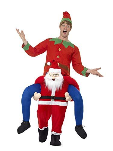 Smiffys SMIFFY 'S 48814Piggyback Santa Kostüm, rot, one ()