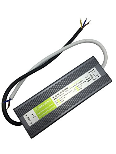 adattatore YXH DC 12V, LED di alimentazione del driver trasformatore IP67 impermeabile 60w Adatto per l'illuminazione a LED Luce LED Strip, modulo LED e accessori di alimentazione