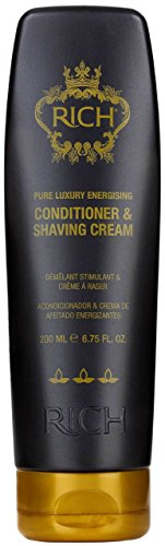RICH Energising Conditioner & Shaving Cream mit Marokkanisches Arganöl, Keratin und Pfefferminzöl für männer